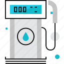 filling, fuel, gas, gasoline, petrol, petroleum, station icon