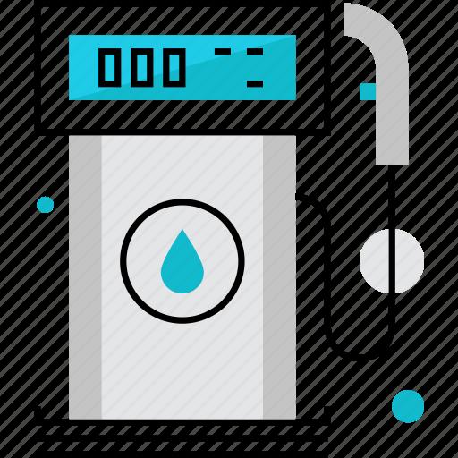 filling, fuel, gas, gasoline, petrol, petroleum, station icon