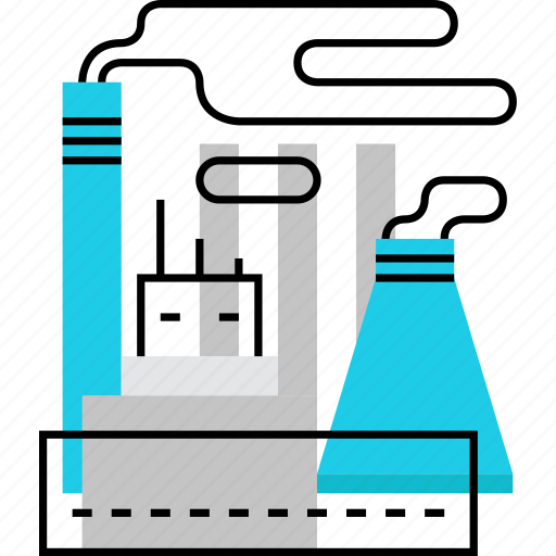 fabric, facility, factory, manufacture, plant, power, station icon