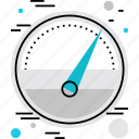 barometer, gauge, measure, measurements, meter, pressure, rate icon