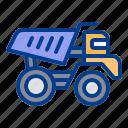 construction, heavy, mine, tipper, vehicle