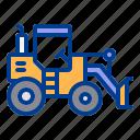 bulldozer, construction, farm, heavy, vehicle