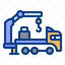 construction, crane, heavy, truck, vehicle icon