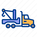 construction, heavy, tow, truck, vehicle icon
