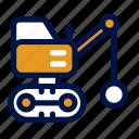 ball, construction, heavy, transportation, vehicle