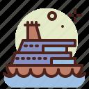 cruiseship, army, heavy, machinery