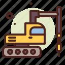 drill, machine, army, heavy, machinery