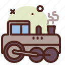 old, train, army, heavy, machinery