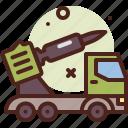 rocket, launcher, army, heavy, machinery
