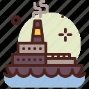 ship, army, heavy, machinery