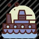 warship, army, heavy, machinery
