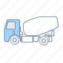 cement, mixture, vehicle icon