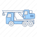 crane, truck, vehicle icon