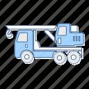 crane, truck, vehicle icon