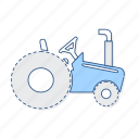 farm, tractor, vehicle icon