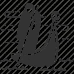 afterlife, boatman, charon, death, ferryman, kharon, styx icon