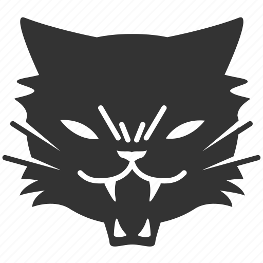 animal, black cat, cat, frighten, pet, satan cat, threaten icon