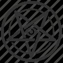 baphomet, evil, grimoire, laveyan, pentagram, satanic, satanism icon