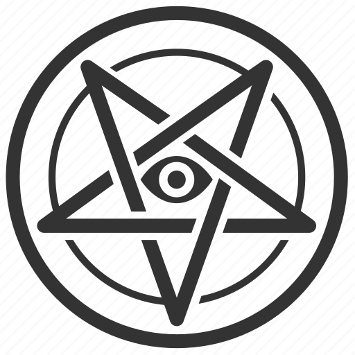 baphomet, evil, laveyan, pentagram, satan, satanic, satanism icon