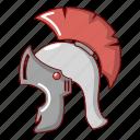 ancient, cartoon, greek, helmet, object, roman, warrior