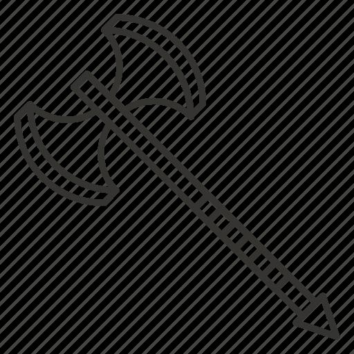 ax, axe, double axe, tool, warrior, weapon icon