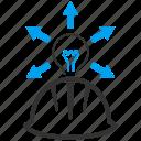 electric power, electricity, hard hat, helmet, light bulb, lightbulb, signal icon