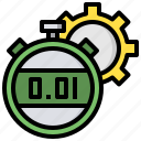 and, chronometer, date, stopwatch, time, timer, wait icon