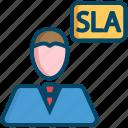 service, level, helpdesk, support, agreement, sla icon