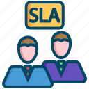 agreement, helpdesk, level, response, service, sla, support icon