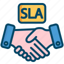 deal, service, level, helpdesk, agreement, sla, support icon