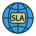 agreement, deal, helpdesk, level, service, sla, support icon
