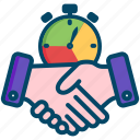 service, level, helpdesk, agreement, sla, hands, support icon