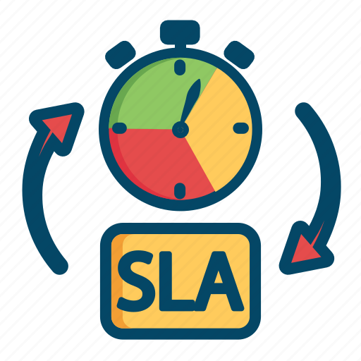 agreement helpdesk level service sla support time icon