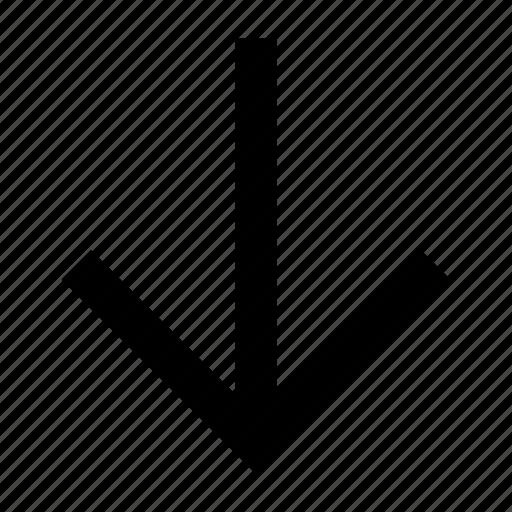 arrow, down, font, helvetica, roboto icon