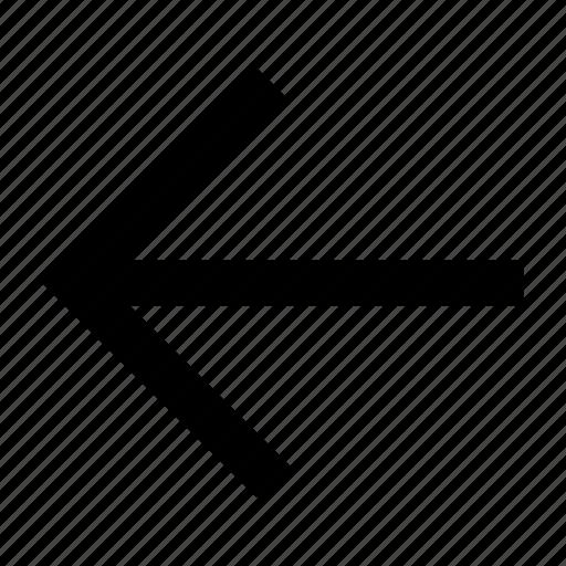 arrow, font, helvetica, left, roboto icon