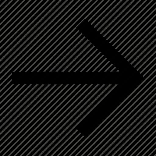 arrow, font, helvetica, right, roboto icon