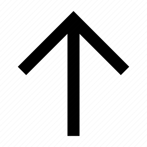 arrow, font, helvetica, roboto, up icon