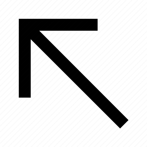 arrow, font, helvetica, left, roboto, up icon