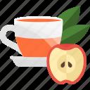 apple, fruits, herbal, tea