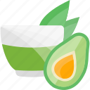 avocado, fruits, herbal, tea icon