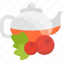 berry, fruits, herbal, tea icon