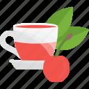 cherry, fruits, herbal, tea
