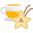 cinnamon, fruits, herbal, tea icon