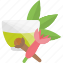 drink, flowers, fruits, herbal, sheet, tea icon