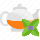 flower, fruits, green, herbal, tea icon