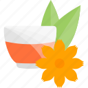 food, fruits, herbal, tea icon