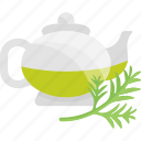 fruits, greenery, herbal, tea icon