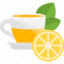 fruits, herbal, lemon, tea icon