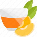 fruits, herbal, mandarine, tea icon