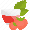 drink, fruits, herbal, raspberry, tea icon